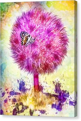Good Luck Tree Canvas Print by Mo T