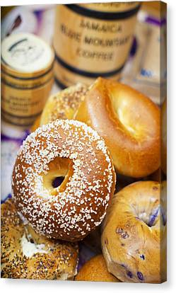 Good Morning Bagels Canvas Print by Shanna Gillette