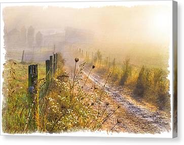 Good Morning Farm Canvas Print by Debra and Dave Vanderlaan