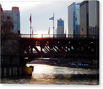 Good Morning From Chicago Canvas Print