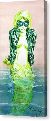 Good Morning Little Mermaid Canvas Print by Del Gaizo