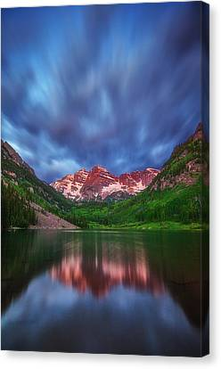Good Morning Maroon Canvas Print by Darren  White