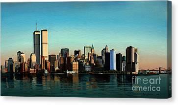 Liberty Avenue Canvas Print - Good Morning New York by Damir Selmanovic
