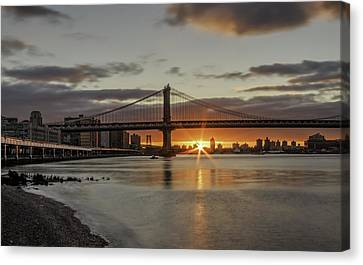 Canvas Print featuring the photograph Good Morning Nyc  by Anthony Fields
