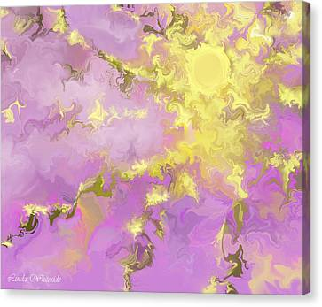 Canvas Print featuring the digital art Good Morning Starshine by Linda Whiteside