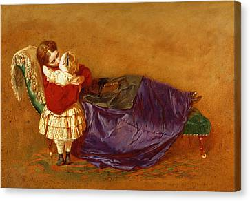 Good Night, 1863 Canvas Print by George Elgar Hicks