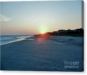 Canvas Print featuring the photograph Good Night Day by Roberta Byram