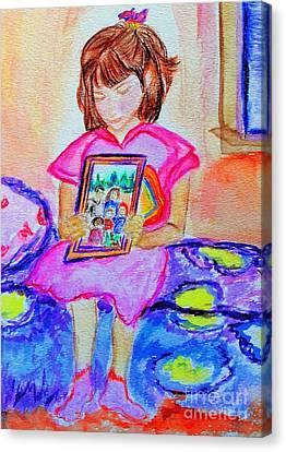 Good Night Family-love Olivia Canvas Print by Helena Bebirian