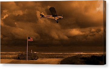 Canvas Print featuring the photograph Good Night Wildwood Beach by David Dehner