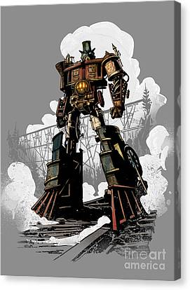 Good Robot Canvas Print by Brian Kesinger