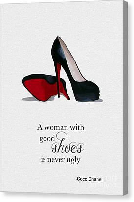 Christian Canvas Print - Good Shoes by Rebecca Jenkins