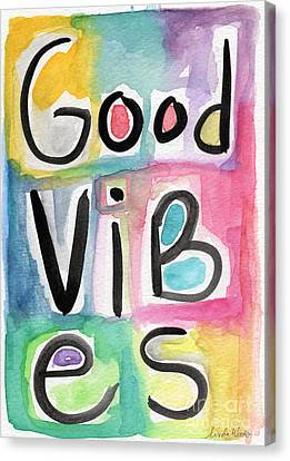 Health Canvas Print - Good Vibes by Linda Woods