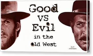 Good Vs Evil Canvas Print by Clif Jackson