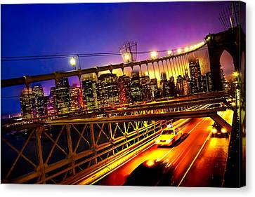 Goodbye New York City Canvas Print by Az Jackson