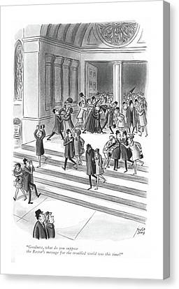 Goodness, What Do You Suppose The Rector's Canvas Print by Robert J. Day