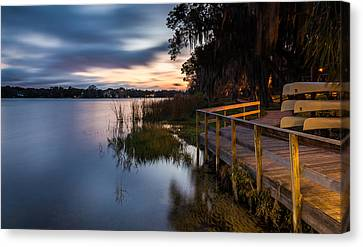 Goodnight Canoes Canvas Print by Clay Townsend