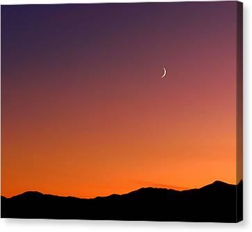 Goodnight Moon Canvas Print by Rona Black