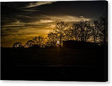 Goodnight Ranch Canvas Print by Kelly Kitchens