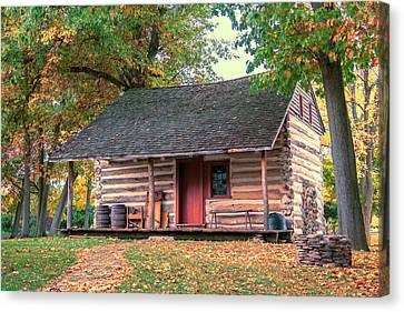 Goodrich-landow Log Cabin Canvas Print
