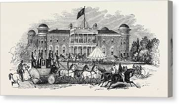 Goodwood House, Scene In The Park Canvas Print