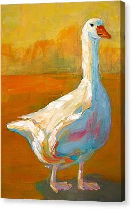 Goose A Farm Animal Canvas Print by Patricia Awapara