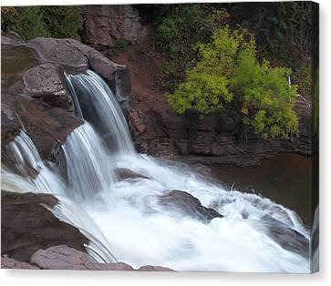 Canvas Print featuring the photograph Gooseberry Falls In Slow Motion by James Peterson