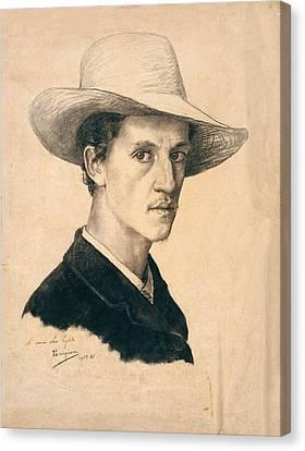 Gordigiani Eduardo, Self-portrait Canvas Print