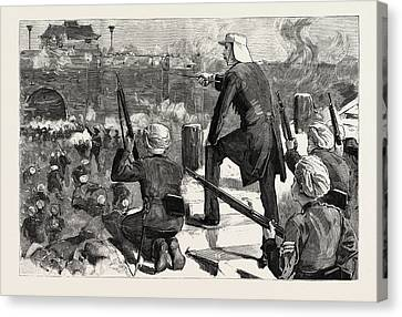 Gordon In China November 1863 Storming Soochow Gordon Canvas Print by Chinese School