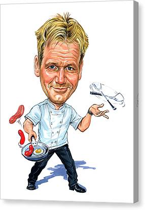 Gordon Canvas Print - Gordon Ramsay by Art