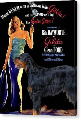 Gordon Setter Art Canvas Print - Gilda Movie Poster Canvas Print