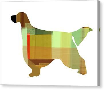 Gordon Setter Canvas Print by Naxart Studio