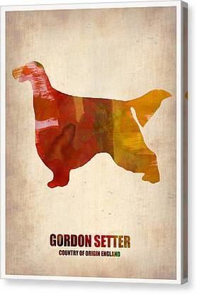 Gordon Setter Poster 1 Canvas Print by Naxart Studio