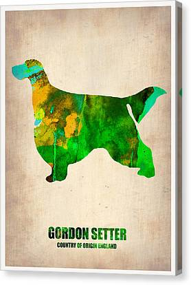 Gordon Canvas Print - Gordon Setter Poster 2 by Naxart Studio