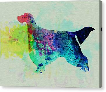 Gordon Canvas Print - Gordon Setter Watercolor by Naxart Studio
