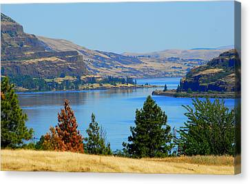 Gorge East Canvas Print by Mamie Gunning