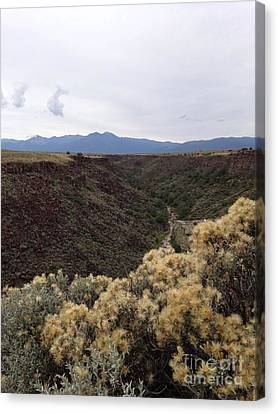 Canvas Print featuring the photograph Gorge In Taos by Polly Anna