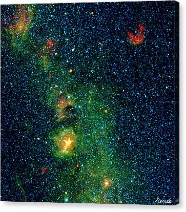 Gorgeous Galaxy Canvas Print by Renee Anderson