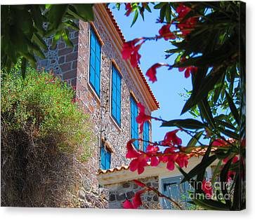 Canvas Print featuring the photograph Gorgeous Island Residence by Andreas Thust