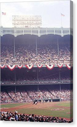 Gorgeous View Of Old Yankee Stadium Canvas Print by Retro Images Archive