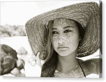 Gorgeous Young Woman Canvas Print by Kicka Witte