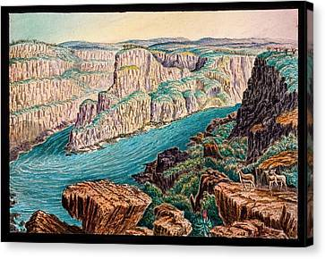 Gorges Below Victoria Falls Canvas Print by Gustoimages/science Photo Libbrary