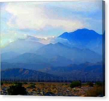 Gorgonio Pass And Mt. San Gorgonio Canvas Print