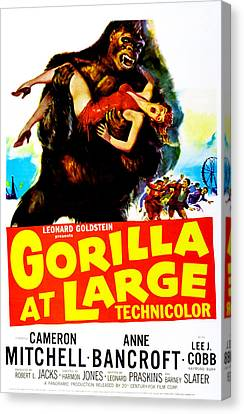 Gorilla At Large, Us Poster, Anne Canvas Print by Everett