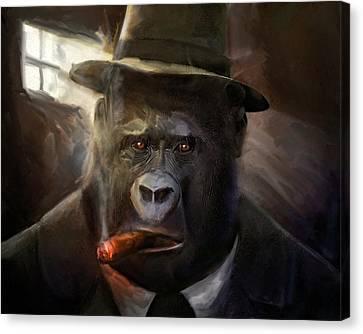 Gorilla Gangster Canvas Print by Gustav Boye
