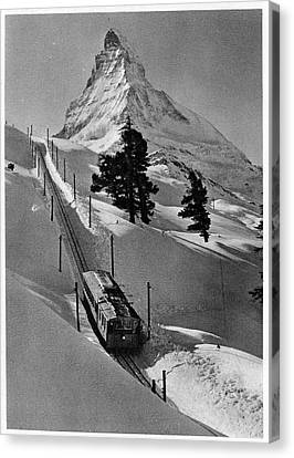 Gornergrat Rack Railway Canvas Print