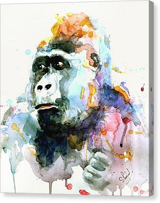 Canvas Print featuring the painting Gorrilla by Steven Ponsford