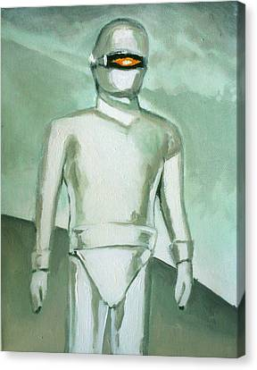 Gort From The Day The Earth Stood Still Canvas Print by Paul Mitchell