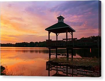 Gorton Pond Sunset Warwick Rhode Island Canvas Print