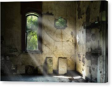 Abandoned Canvas Print - Gospel Center Church Interior by Tom Mc Nemar
