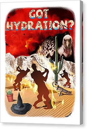 Got Hydration? Canvas Print by Mark Armstrong